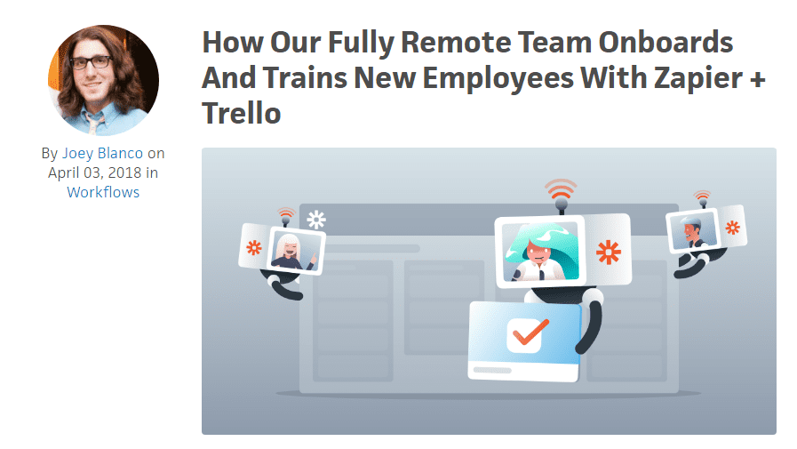Blog post written by a remote employee at Zapier